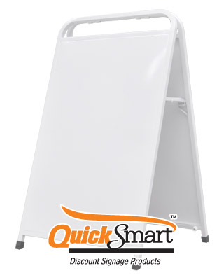 White Handle Style A-Frame supplied blank for other signwriters