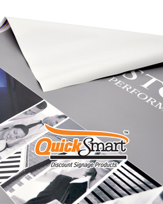 The Retractable Banner replacement skin is designed to fit all QuickSmart Banner Stands.