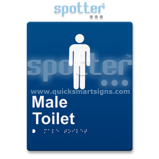 Braille Male Toilet
