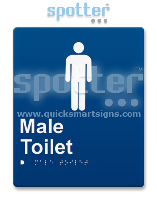 Male Toilet Door Sign and Entry Sign