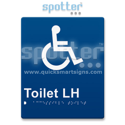 Braille Wheelchair Toilet