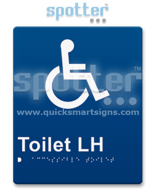 Wheelchair Toilet Door Sign and Entry Sign
