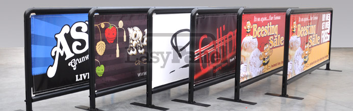 Engineered signage systems like these cafe barriers are famous for quality