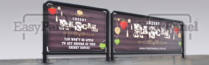 Two great size options are available for the cafe banner sign frames with inserts