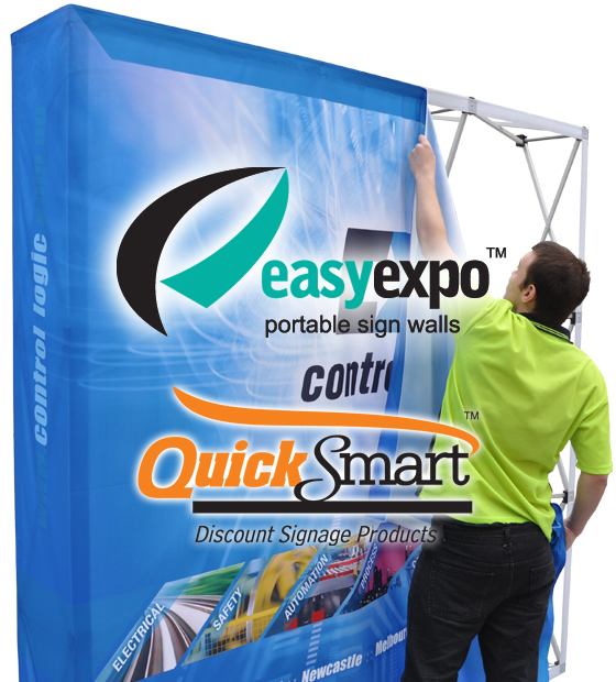 The Replacement skin is extremely easy to install onto a pre-existing Easy Expo pop-up wall.