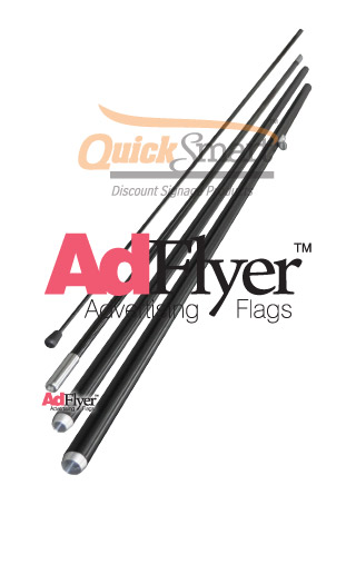 4 piece flag pole for Adflyer Feather flying banner flag