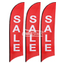 Feather Flag w Flag Pole kit Pre designed Printed 'SALE' White on Vibrant Red