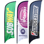 Feather Flag w Flag Pole kit Custom Printed Full Color CMYK digital printing