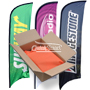 Feather Flag ONLY Custom Printed Full Color CMYK digital printing