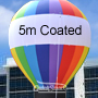 5 Metre High RAINBOW Rooftop Balloon COATED FABRIC 7 Colors with Blower & Tie Down Kit.