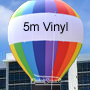 5 Metre High PVC VINYL RAINBOW Hire Quality Rooftop Balloon 0.55 Vinyl 7 Colors with Blower & Tie Down Kit.