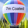 7 Metre High RAINBOW Grass Balloon Coated Fabric 7 Colros with Blower & Tie Down KIT.