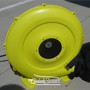 Industrial rooftop balloon air blower blower with safety inlet.