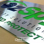 1000mm x 500mm Stainless Steel Sign with coloured Acrylic mounted to the rear