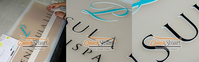 1400mm x 700mm Frosted Acrylic Panel sign with Laser cut logo and text adhered to the face.
