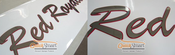 350mm high Stainless Steel lettering