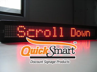 Tri Colour LED Sign can display messages in Red Green and Amber
