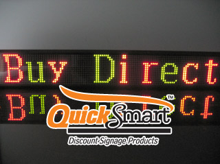 1.25m Indoor LED Sign is Tri-Colour and allows you to program your messages using Red, Green and Amber