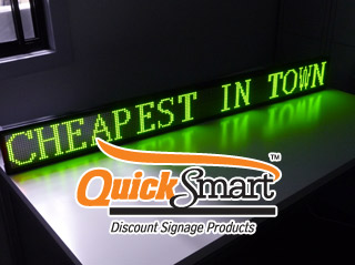 Tri-colour 1.5 metre scrolling text LED sign