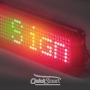 660mm x 100mm One Line Text Semi Outdoor Scrolling LED Sign - Scrollers electronic sign 3 color Red Amber Green