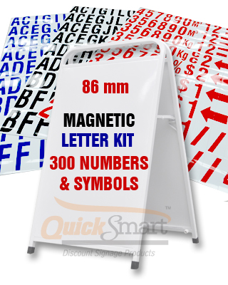 sandwich board sign and large magnetic letters package buy With large magnetic letters for signs