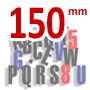 150 mm high magnetic 3 color RED BLUE BLACK lettering kit - 300 Capital letters  & Symbols