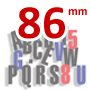 86 mm high magnetic 3 color RED BLUE BLACK lettering kit - 300 Capital letters  & Symbols