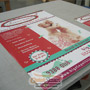 900mm x 600mm Corflute Panel Sign with Eyelets