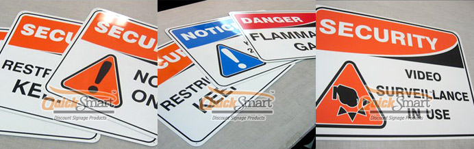 Various Colorbond Safety Signs